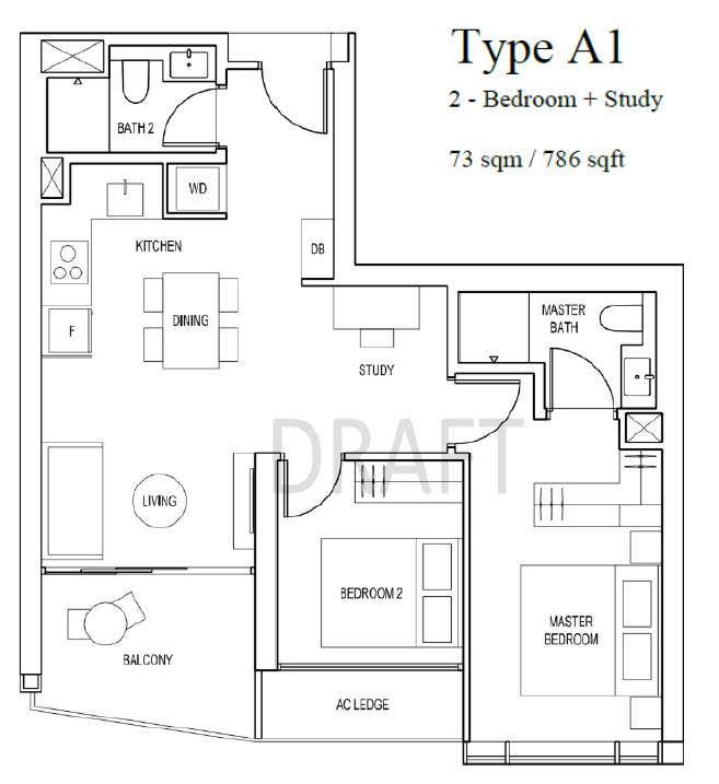 Artra Condo 2 Bedroom Floor Plan