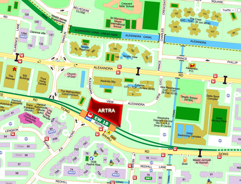 Artra Location at Redhill MRT Tang Group